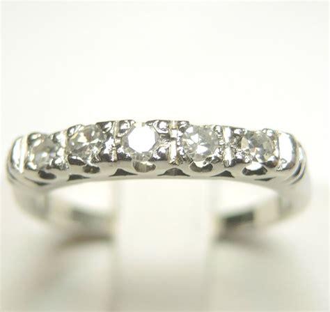 deco vintage wedding band platinum size 5 5 uk k1 2 egl usa ebay
