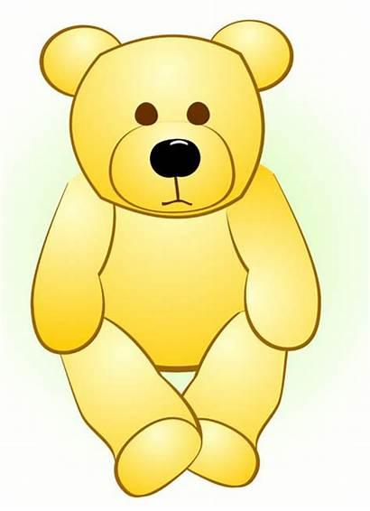 Yellow Clipart Bear Cartoon Teddy Doll Clip