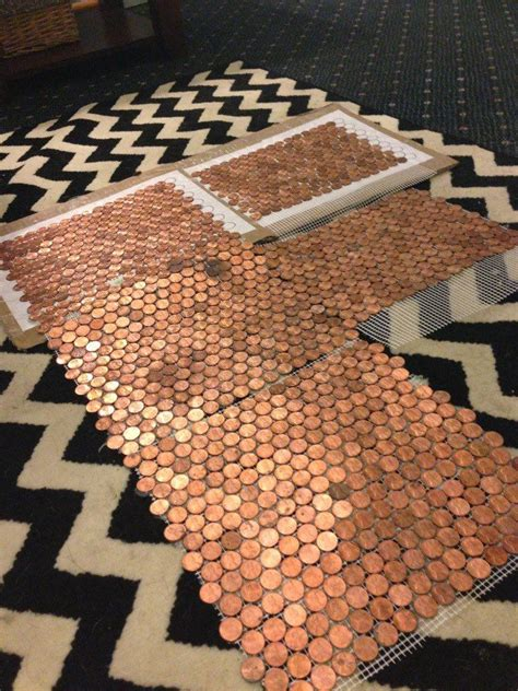 make a floor out of real pennies copper the floor and