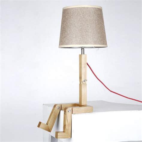 Lampe De Table Pied En Bois Lampe De Chevet Gifi