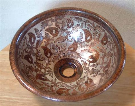 mexican hand painted sinks mexican hand painted copper sink copper vessel sink