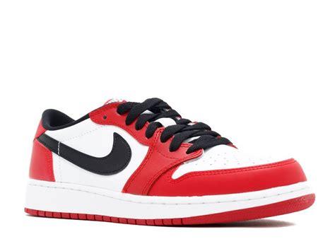 Air Jordan 1 Retro Low Og Bg White Black Varsity Red
