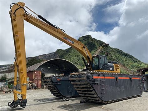 amphibious excavator  tons bell dredging company