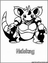 Coloring Pages Nidoking Pokemon Poison Nidoqueen Colouring Printable Fun Template Getcolorings sketch template