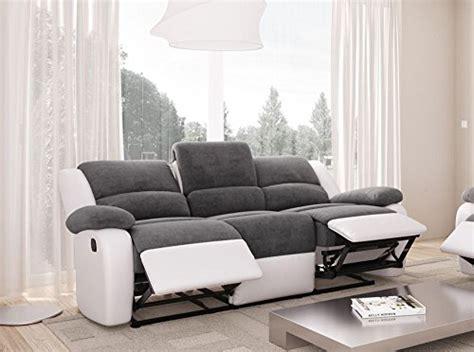canapé relax tissus 3 places relax canapé de relaxation en simili et tissu 3 places