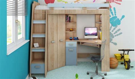 lit mezzanine 2 places avec bureau lit surelev enfant avec rangement bureau et armoire intgr