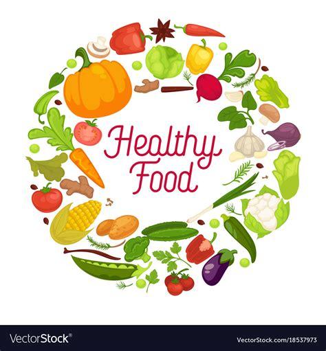 healthy food poster organic vegetables royalty  vector