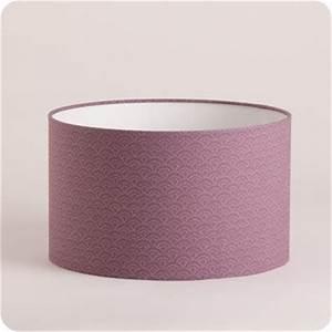 Abat Jour Tissu : abat jour design pour lampe lampadaire ou suspension en tissu motif japonais mauve yoake ~ Teatrodelosmanantiales.com Idées de Décoration
