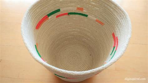 diy rope basket  yarn diy inspired