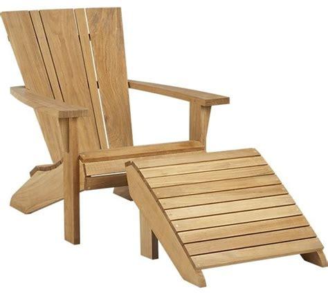 vista adirondack chair with ottoman contemporary