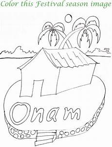 Onam printable coloring page for kids 6