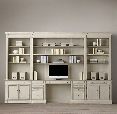 library home desk wall system