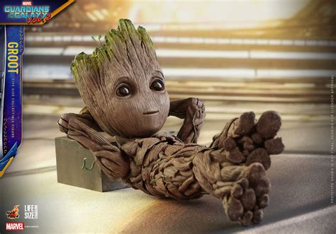 Star Wars Cute Wallpaper Hot Toys Life Size Baby Groot Replica Cool Stuff