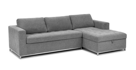 This Sofa Bed Has A Chaise Lounger That Pulls Up For A