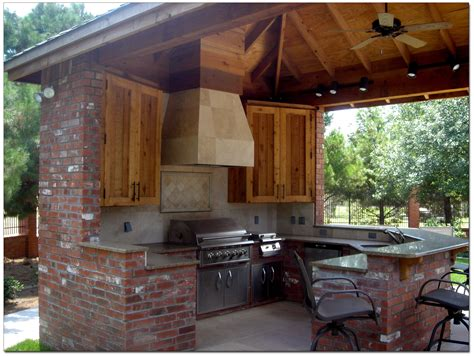 outdoor kitchen plans constructed freshly  backyard