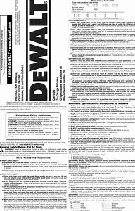 Dewalt Dw896 Type 2 User Manual 16 Gauge Nibbler Manuals