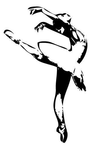 Bailarina de ballet clásico vista de perfil | Bailarina