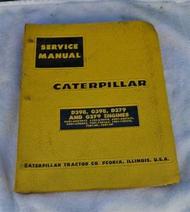 Cat Caterpillar D379 G379 Parts Manual Book Catalog Engine