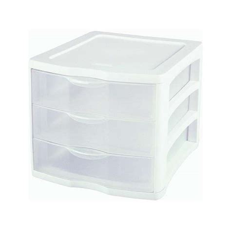 sterilite clearview 3 drawer storage cabinet 17918004