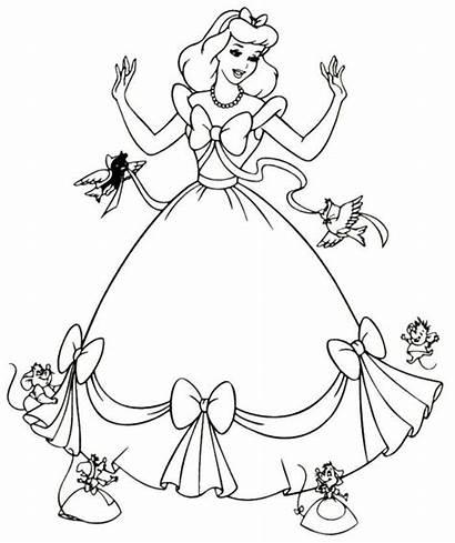 Coloring Cinderella Mice Princess