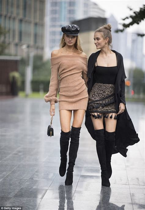 angels elsa romee and josephine strut through shanghai