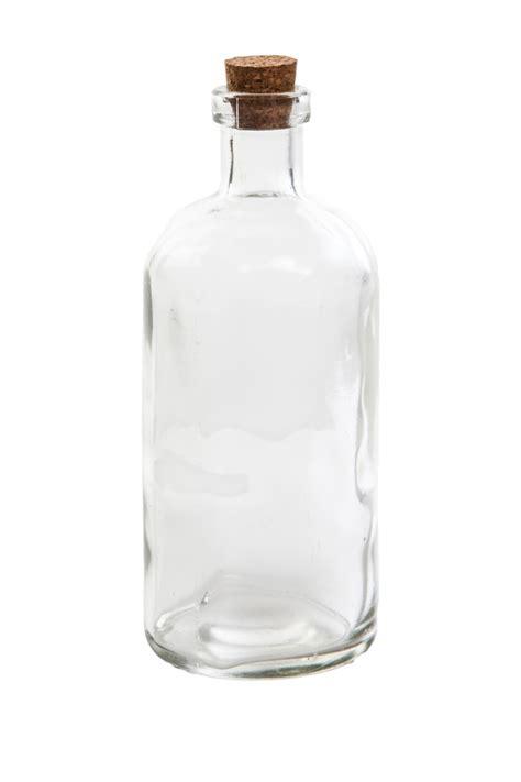 small clear glass message bottle  cork hcm