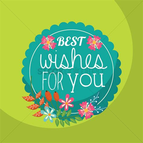 best wishes for best wishes for you vector image 1811267 stockunlimited