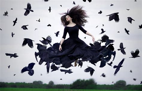crow woman photography hd photography  wallpapers