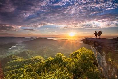 Roanoke Mcafee Virginia Ridge Mountains Sunrise Adventure