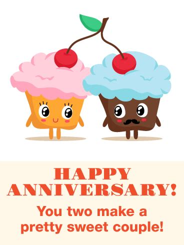 pretty sweet couple funny anniversary card