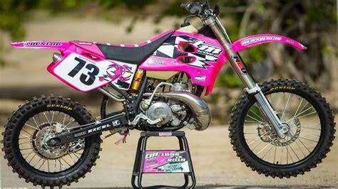 Pink 1995 Tm 250 Vs. 2018 Tm 250 Two