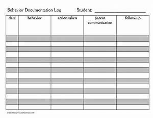 parent communication grades k 5 collection lesson planet With behaviour log template