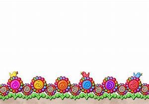 Jelly's Swirly Flower Border - Peace Sign Flower - Jelly's ...