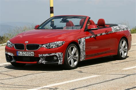 red bmw spied 2014 bmw 4 series convertible is red