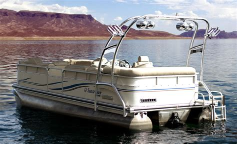 Wakeboard Tower Pontoon Boat by Wakeworks Announces The Marine Industry S