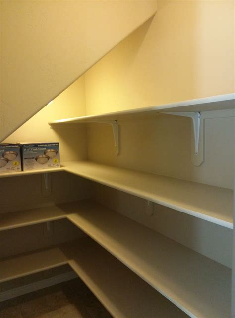 They have to be wide enough and straight forward allowing you to place a table there and some small shelves. Pantry under the stairs | Closet remodel, Under stairs, Closet under stairs