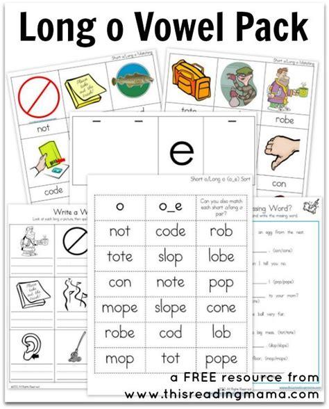 Long O Vowel Pack {free Printable}  Free Printable