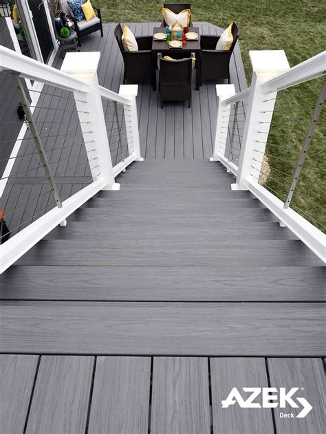 brand new azek deck color island oak a fashion forward mid gray tone from our harvest
