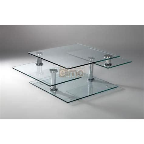 table de cuisine rectangulaire table basse moderne extensible verre et acier moving