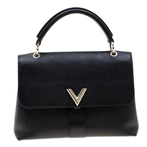louis vuitton black monogram leather   handle bag  sale  stdibs