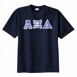 alpha xi delta sorority tackle twilled greek letter t With greek letter shirts