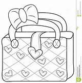Coloring Bag Purse Handbag Ladies Template Useful sketch template