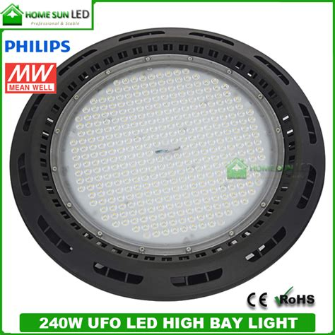 mean well led light 240w ufo led high bay light with meanwell led driver and