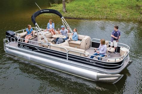 Bass Pro Shop Used Pontoon Boats by Sun Tracker Boats Fishing Pontoons 2017 Fishin Barge