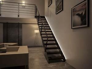 Kit Led Escalier : illuminare le scale con le luci a led ecco 20 idee design per ispirarvi ~ Melissatoandfro.com Idées de Décoration