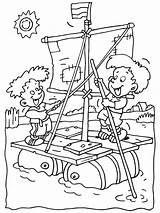 Kleurplaat Kleurplaten Kinderen Vlot Zelfgemaakt Een Zomer Coloring Vakantie Kleurplatennl K3 Boat Camping Piraten Hangmat Activities Kunst Afkomstig Pixel Afbeeldingen sketch template