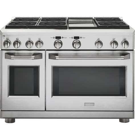 ge slide in gas range reviews monogram 48 quot all gas professional range with 6 burners and