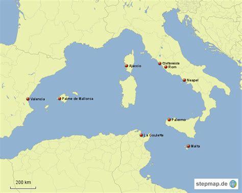 westliches mittelmeer von manfredgerhard landkarte fuer