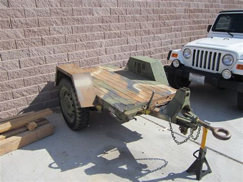 military trailer cer for sale 1967 johnson military m 762 flat bed m416