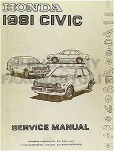 1981 Honda Civic Repair Shop Manual Original 81